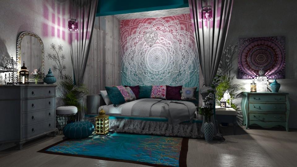 Bohemian Bedroom - Bedroom - by  krc60