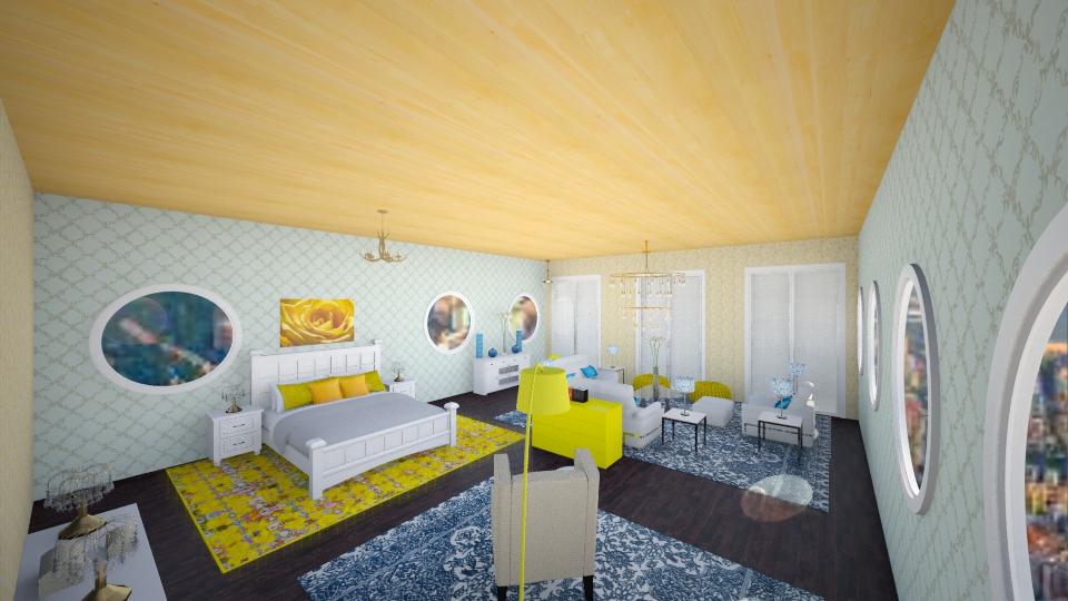 amarelo e azul - Bedroom - by marcela tamires