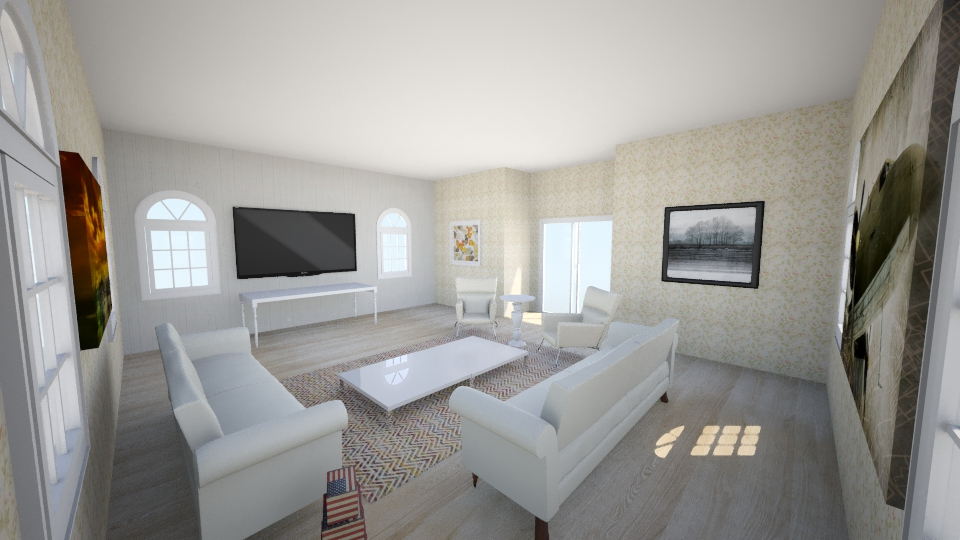 White Living Room - Classic - Living room - by Okeanos