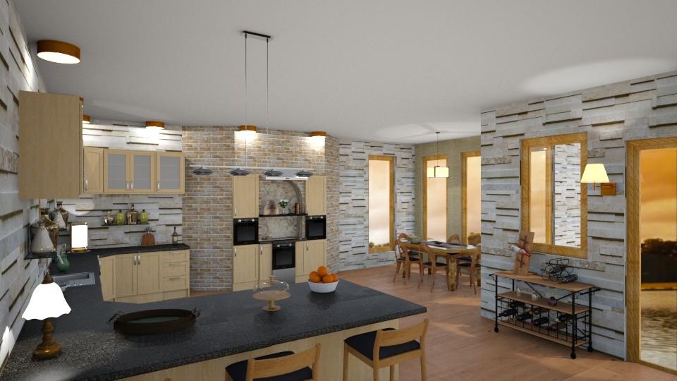 cozy kitchen - Kitchen - by jdenae3