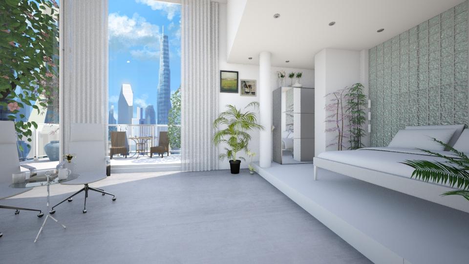 Plant Bedroom - Minimal - Bedroom - by Sophia Cooper
