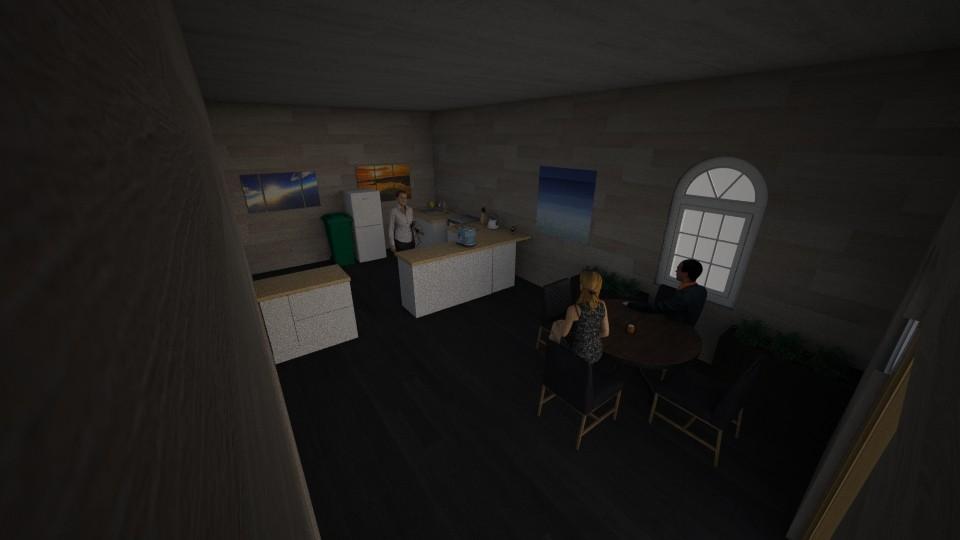 Kitchen and Dining Room - Modern - Kitchen - by saltyfries27