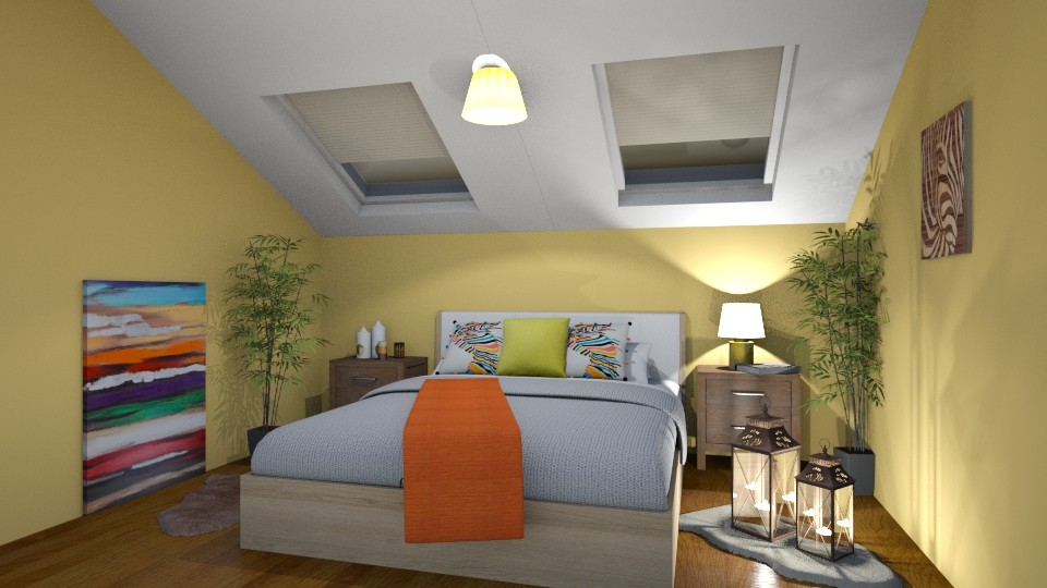 cozy and  attic  - Modern - Bedroom - by zayneb_17
