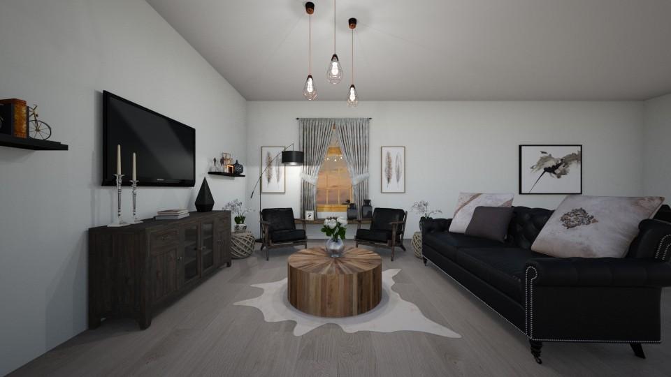 rustic living room - Dining room - by erladisgudmunds
