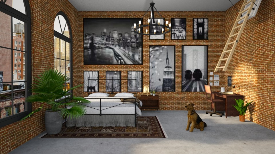 Warehouse bedroom - Bedroom - by Louise Hedlund