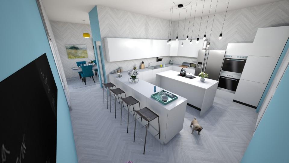 Modern Blue Kitchen - Modern - Kitchen - by AnaCatarina