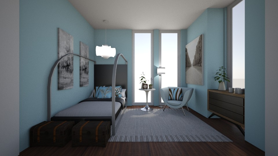 Small Bedroom 13 - Modern - Bedroom - by XiraFizade