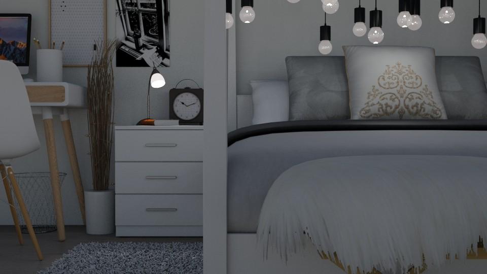 Wintry Bedroom - Bedroom - by juliavalerie