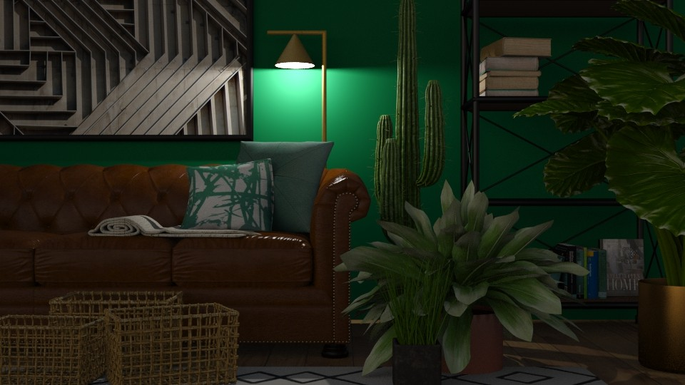 Green And Fresh - Minimal - Living room - by Sally Anne Design