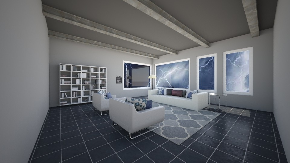 Dark and Stormy - Living room - by Josiemay1234