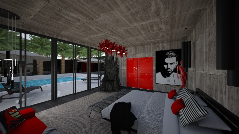 Luxury Concrete Living  - Bedroom - by DecoMaster5
