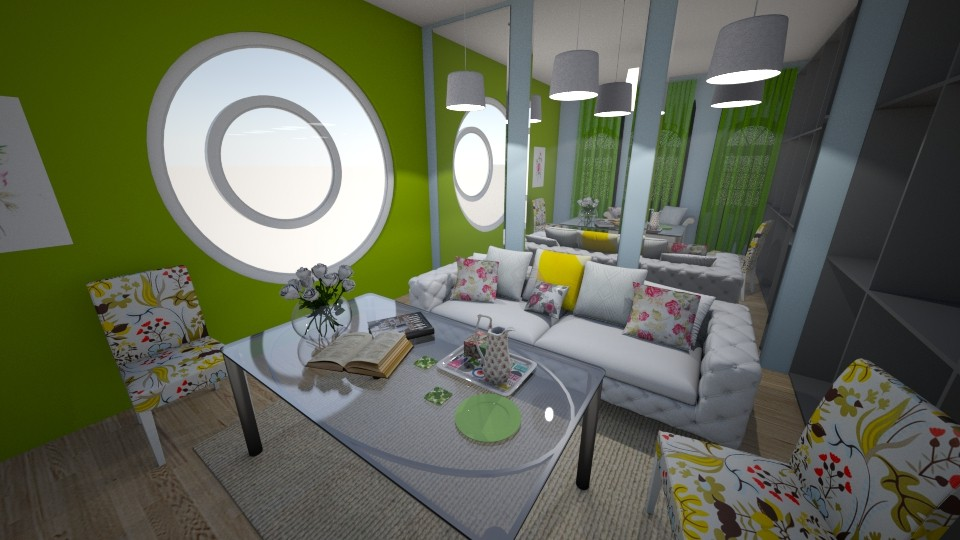 Modern Meld - Modern - Living room - by XiraFizade