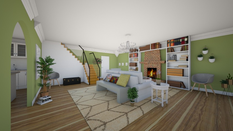My Greenest Room - Living room - by LaughingDonut
