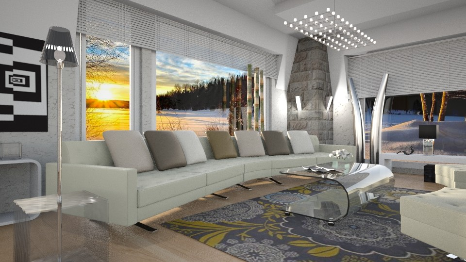 Luxury Boathouse - Modern - Living room - by ZsuzsannaCs