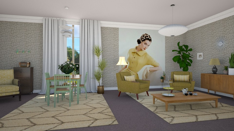 Vintage Tea Time 2 - Living room - by KarmaKitten