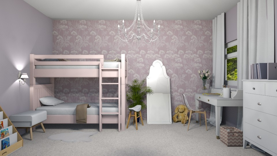bunk bed - Kids room - by oanav