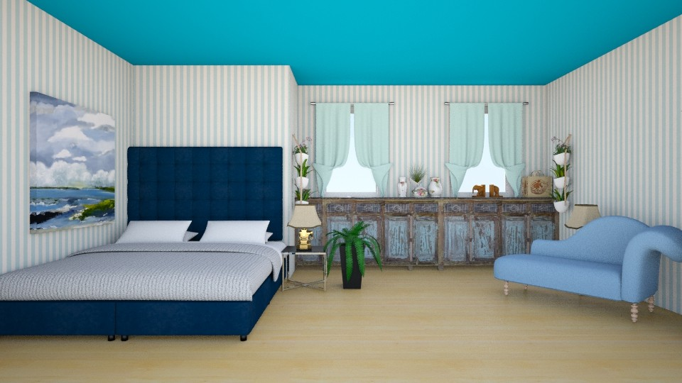99 Blue bed - Bedroom - by Agata_ody