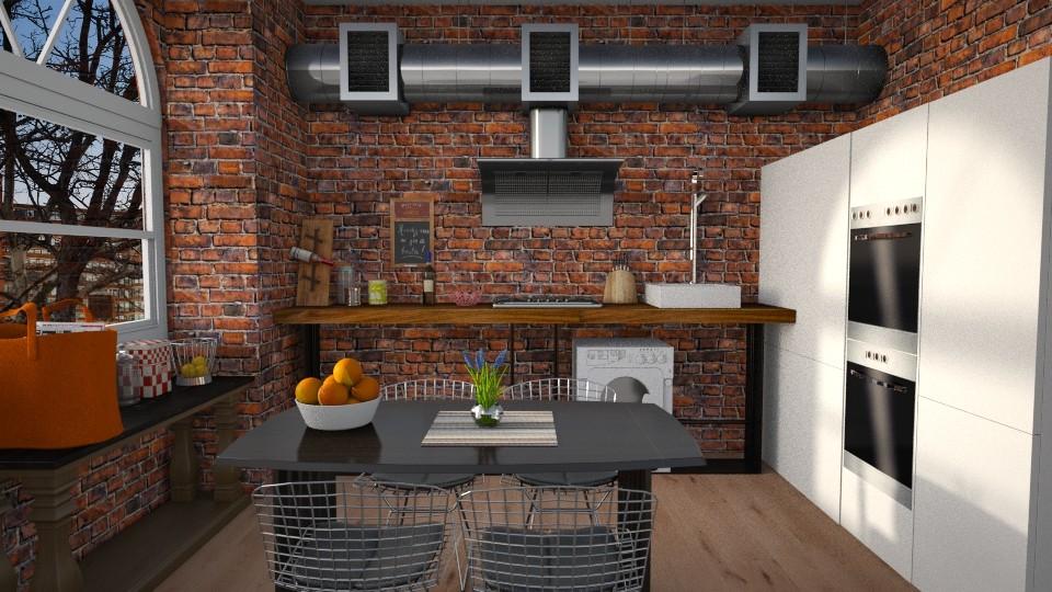 loft kitchen - Kitchen - by Inokentijroom