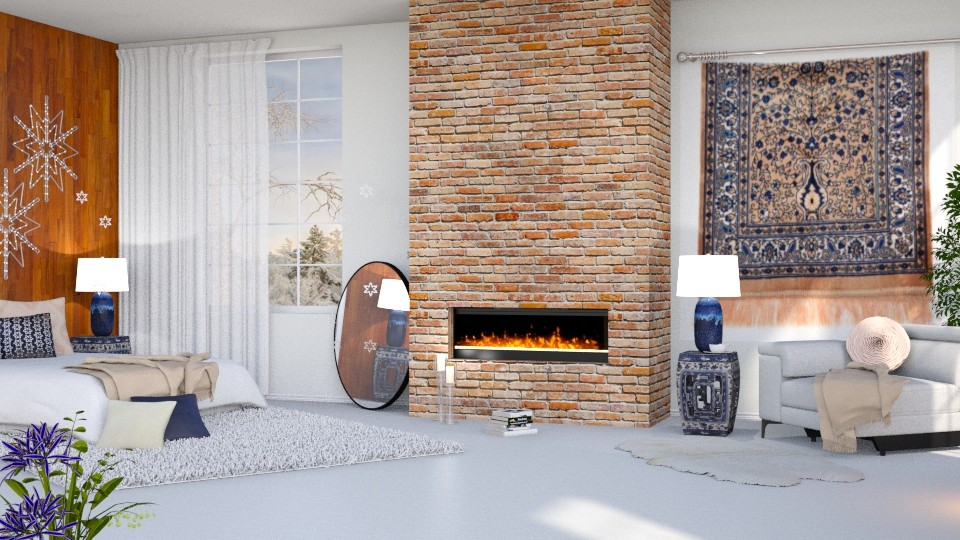 winter bedroom - by barnigondi