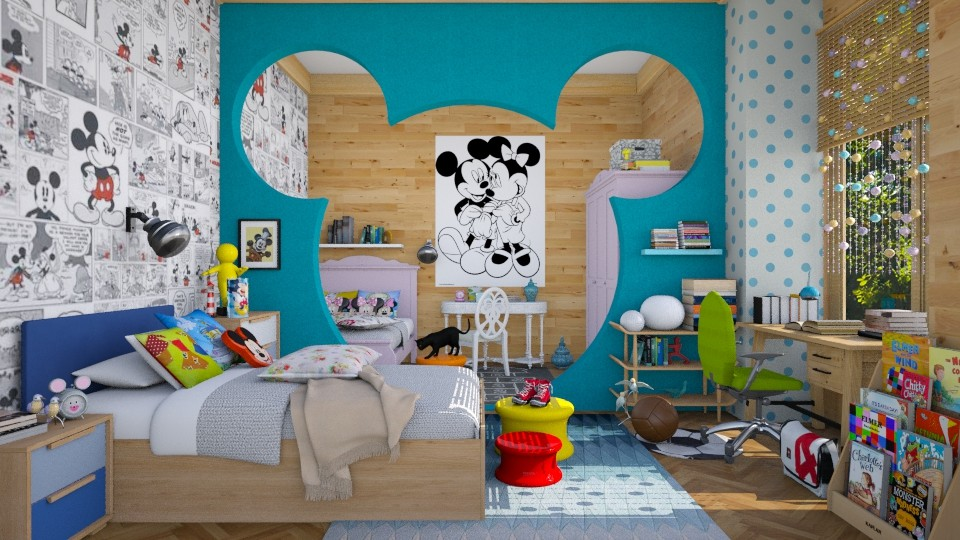 Mickey_world  - Eclectic - Kids room - by Ida Dzanovic