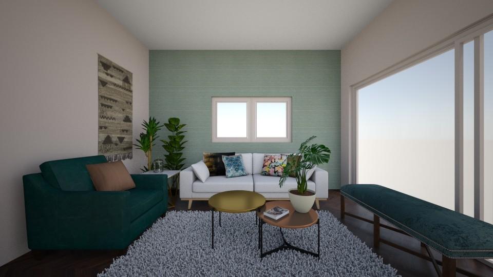 Turquoise Velvet - Feminine - Living room - by Ster