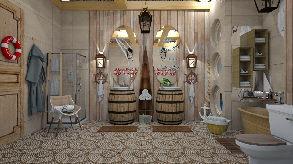 nautical bathroom - by nat mi
