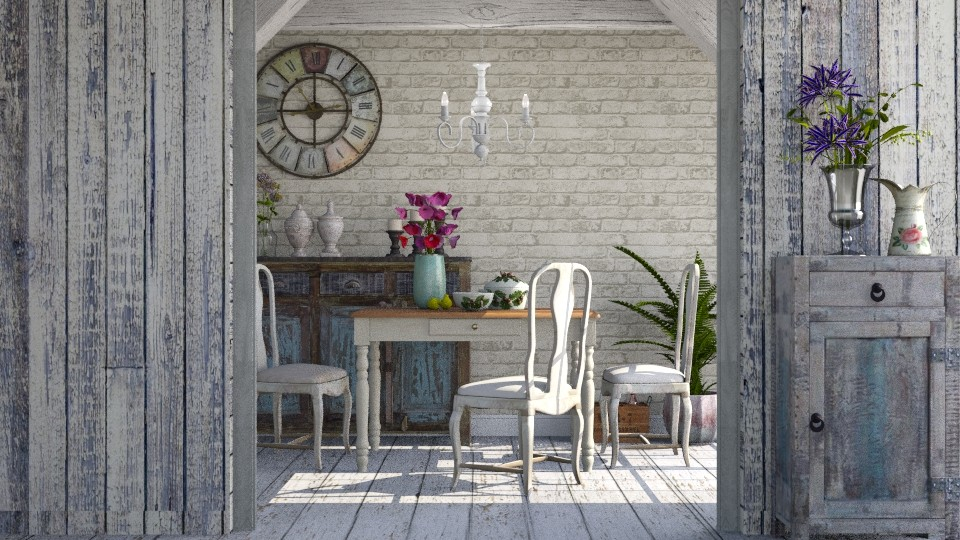Rustic element - Dining room - by meggle