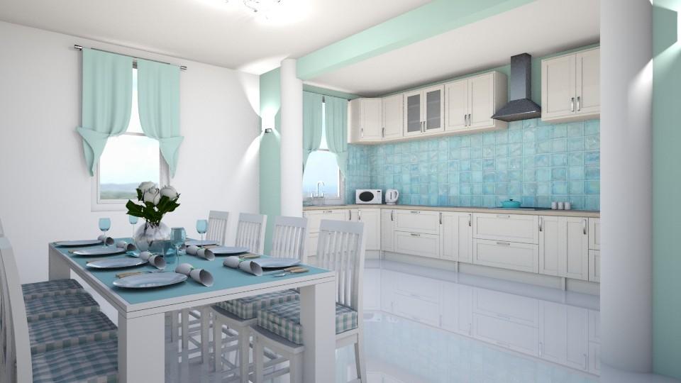 Aqua - Kitchen - by creato