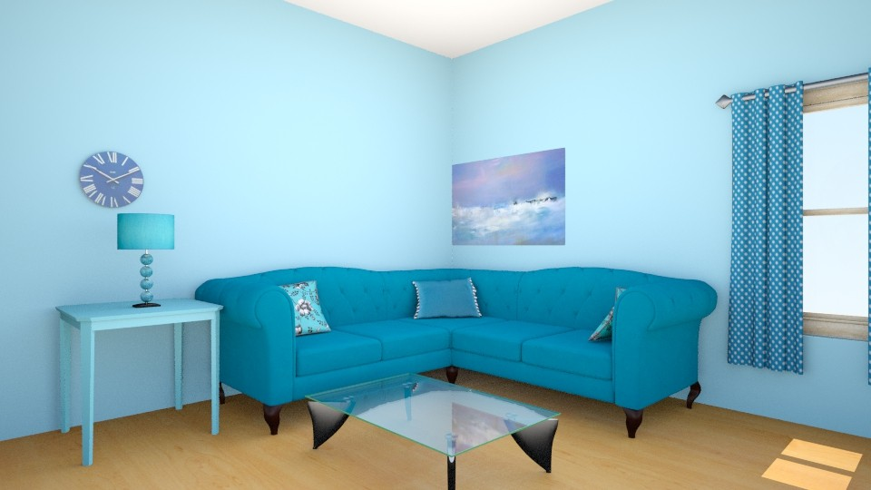 Blue Living Room - Modern - Living room - by Winner168