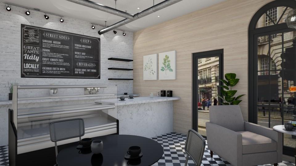 c a f e - Dining room - by _xandra_