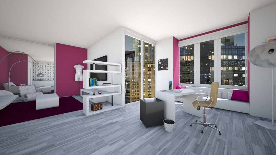 feminine office space - Modern - Office - by Bobikee