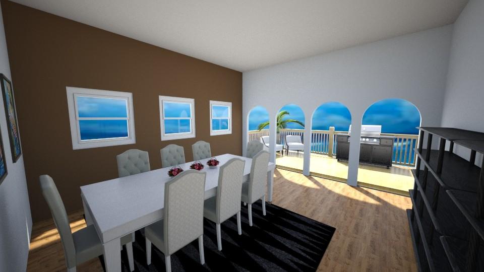 Beach Lanai - Retro - Dining room - by millerfam