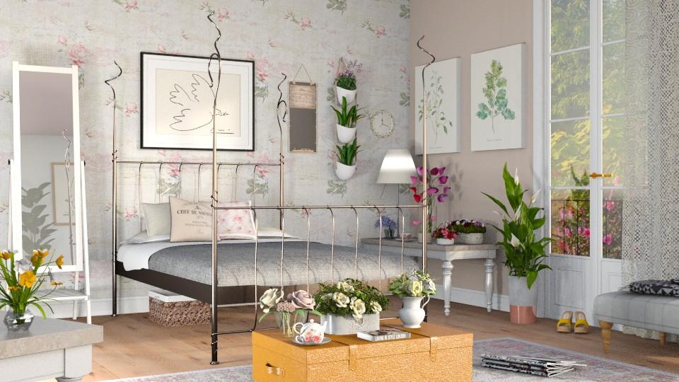 Wildflower Bedroom - Bedroom - by Sally Simpson