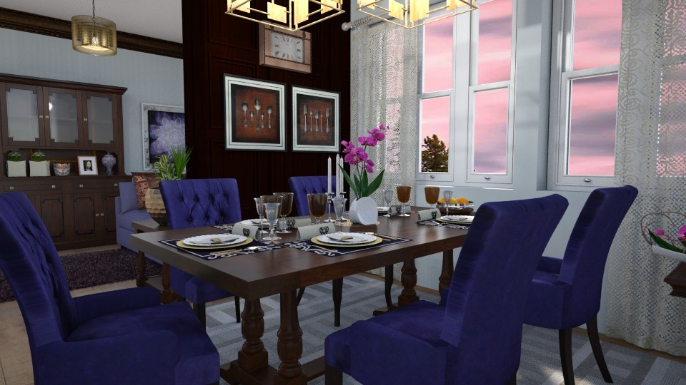 M_Purple dining - by milyca8