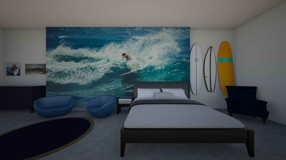 Surf Cultured Bedroom - Bedroom - by khayla simpson