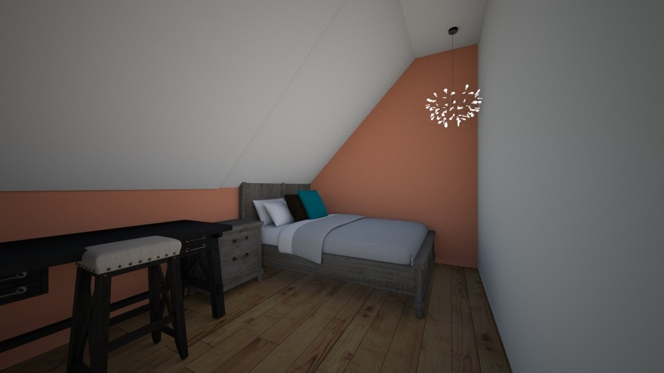 Sloped ceiling bedroom - Classic - Bedroom - by JarvisMe