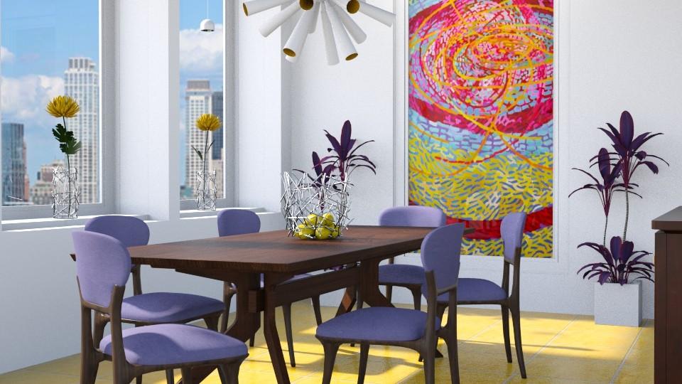 Magnetic Fields - Dining room - by GraceKathryn