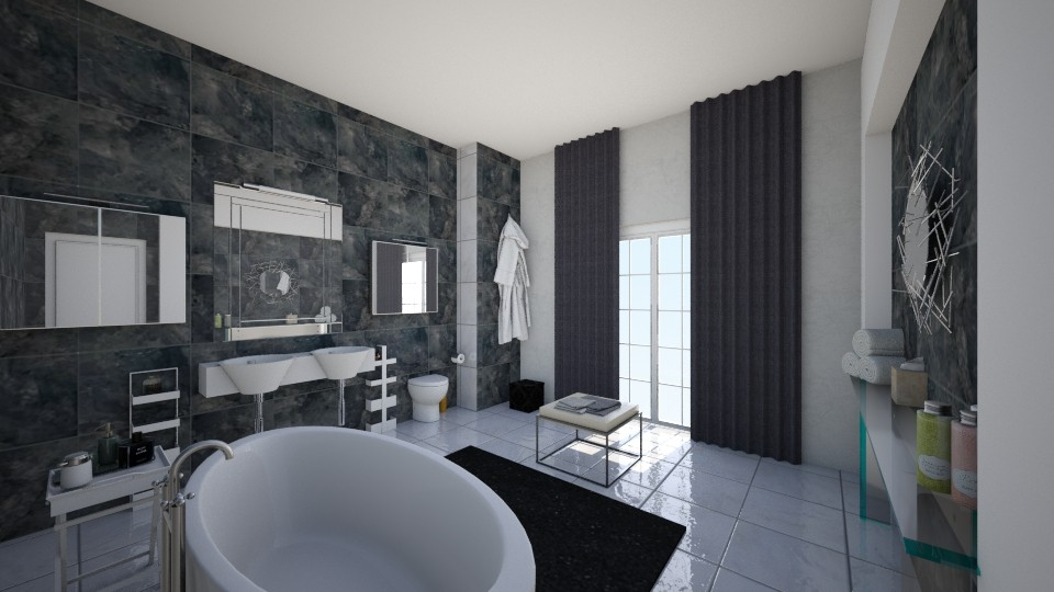 Modern bathroom - Modern - Bathroom - by Justine_stl