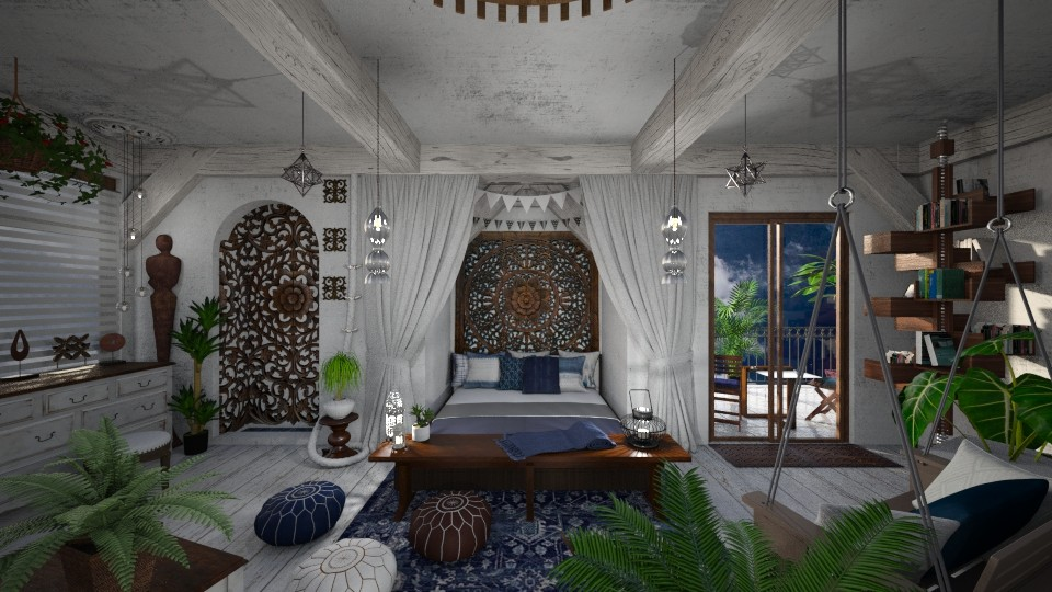 Modern Bohemian Bedroom - Bedroom - by AlocinB
