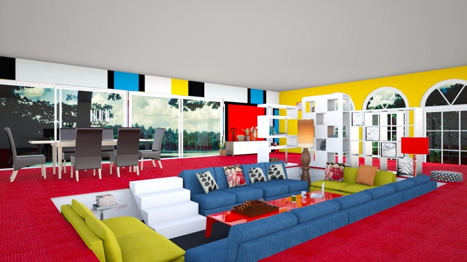 sunken living room - Retro - Living room - by manicpop