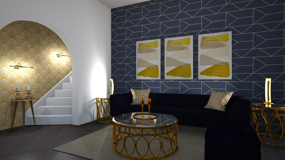 Modern Art D eco - Glamour - Living room - by kristianvalchev