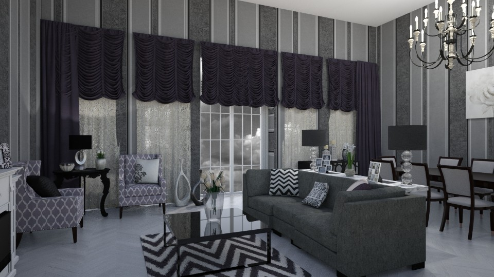 grey living - by Interiors by Laura