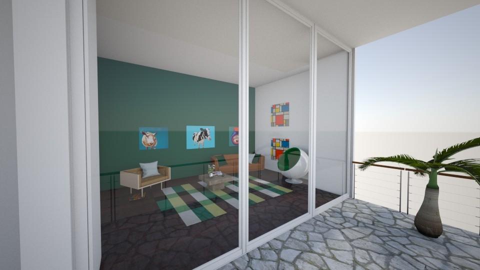 Green - Living room - by katarinalaaksonen