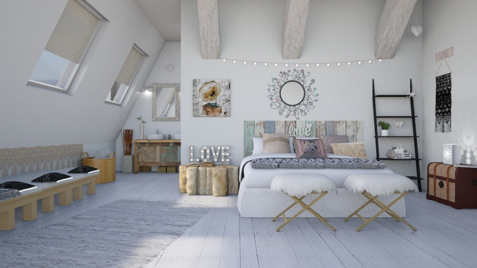 Hippie Chic Bedroom - by ariema
