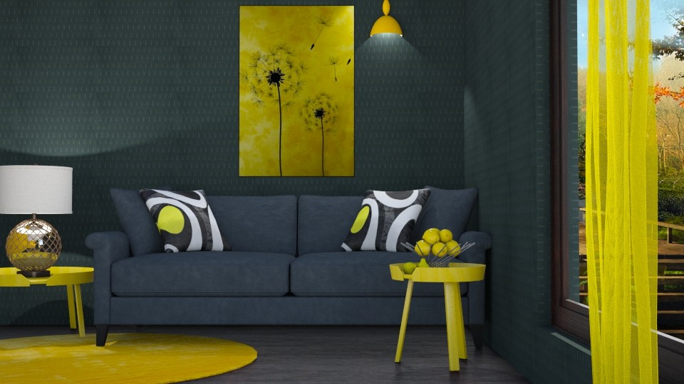 M_Yellow details - Living room - by milyca8