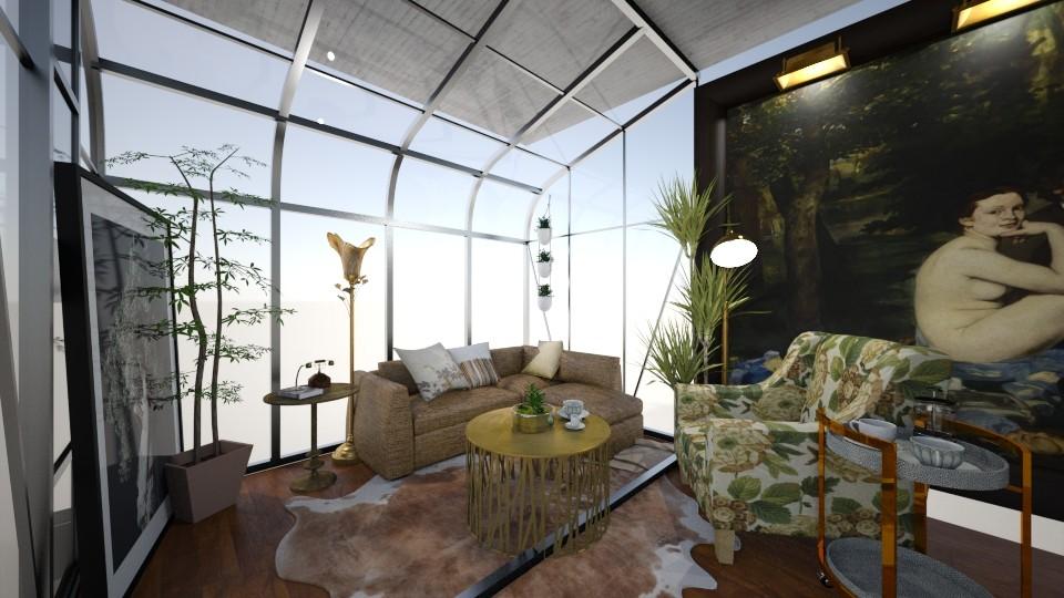 earthy living room - by Valerie Meiner