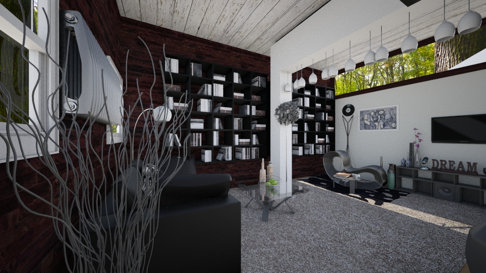 new back to black - Living room - by FriendsofGOD