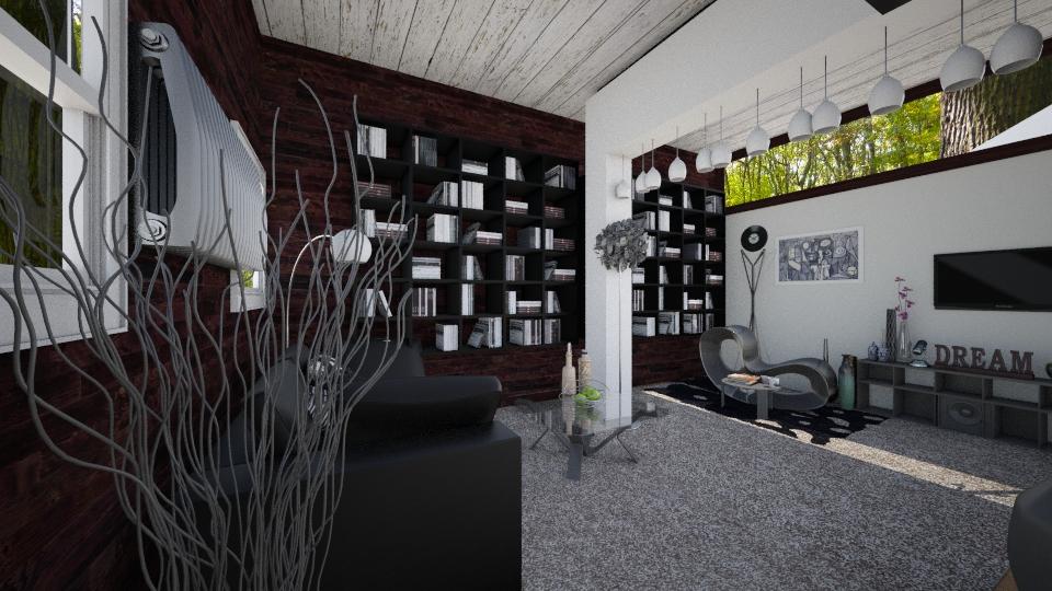 new back to black - Living room - by FriendsofGOD