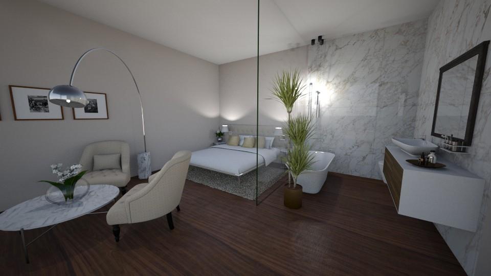 marblebrown hotelroom - Bedroom - by Eszter Potor