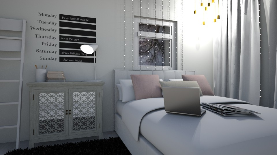 winter room - Modern - Bedroom - by LMR
